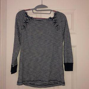 White/ navy striped Lauren Ralph Lauren shirt